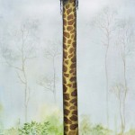 Long Neck, 24x12, Oil on Canvas, Sold