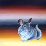 Chinchilla, 12x12, acrylic/resin on panel, Sold