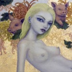 Circe, 12x12, Oil and gold leaf on canvas, Sold