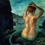 Mermaid, 36x36, Oil on Canvas, Sold
