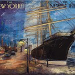 New York Seaport, 16x20, Mixed Media Resin Panel