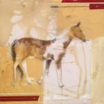 Painters Horse, 40x40, Mixed Media Resin Panel
