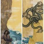 Charybdis and Scylla, 8x24 ea., Oil on Canvas, Sold