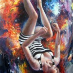 She Fell from the Sky, 48 x 24, Oil on Canvas, Sold
