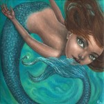 The Little Mermaid, 6x6, Oil on Canvas, Sold