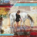 Wanderlust, 24x24, Mixed Media Resin Panel, Sold